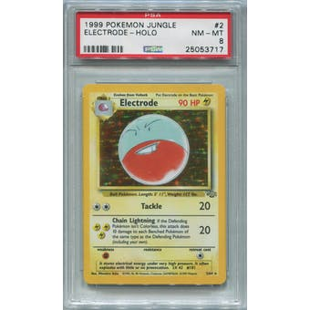 Pokemon Jungle Electrode 2/64 PSA 8