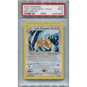 Pokemon Neo Destiny Light Dragonite 14/105 PSA 9