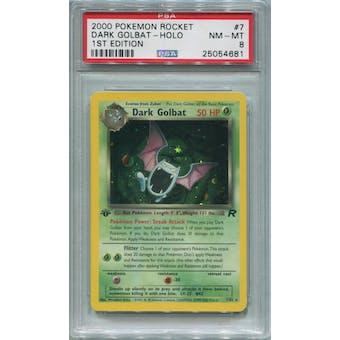 Pokemon Team Rocket 1st Edition Dark Golbat 7/82 PSA 8