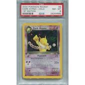 Pokemon Team Rocket 1st Edition Single Dark Hypno 9/82 - PSA 8