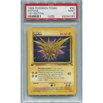 Pokemon Fossil 1st Edition Zapdos 30/62 PSA 9