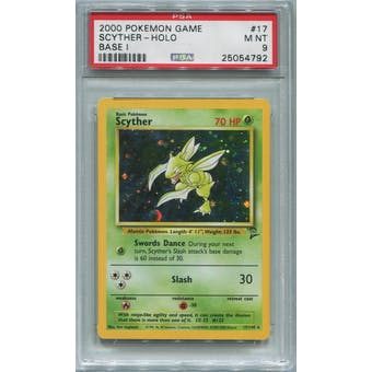 Pokemon Base Set 2 Scyther 17/130 PSA 9