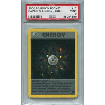 Pokemon Team Rocket Rainbow Energy 17/82 PSA 9