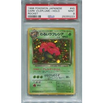 Pokemon Team Rocket Japanese Dark Vileplume PSA 9