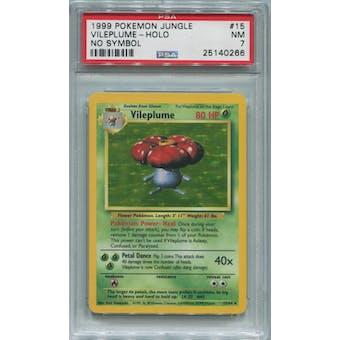 Pokemon Jungle No Set Symbol Error Vileplume 15/64 PSA 7