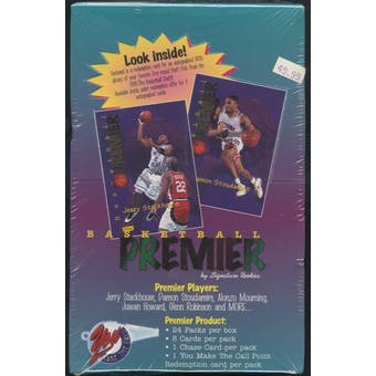 1995/96 Signature Rookies Premier Basketball Hobby Box