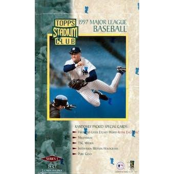1997 Topps Stadium Club Series 1 Baseball Hobby Box (Reed Buy)