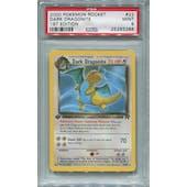 Pokemon Team Rocket 1st Edition Single Dark Dragonite 22/82 - PSA 9
