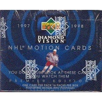 1997/98 Upper Deck Diamond Vision Hockey Hobby Box