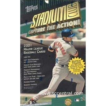 2001 Topps Stadium Club Baseball Jumbo Box