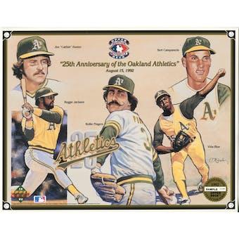 1992 Upper Deck Oakland A's 25th Anniversary Commemorative Sheet Rare Sample Lot of 10