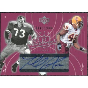 2003 Upper Deck Pros and Prospects #137 Terrell Suggs RC Leo Nomellini Autograph /2000