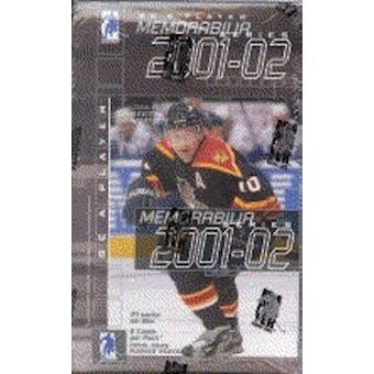 2001/02 Be A Player Memorabilia Hockey Hobby Box