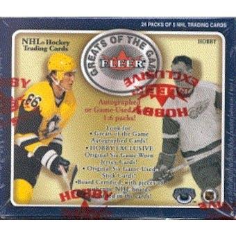 2001/02 Fleer Greats Of The Game Hockey Hobby Box