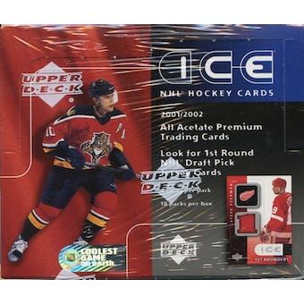 2001/02 Upper Deck Ice Hockey Hobby Box
