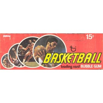1974/75 Topps Basketball Wax Box