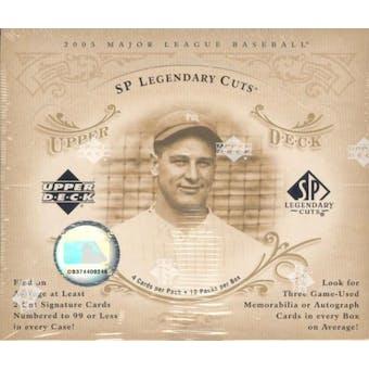 2005 Upper Deck SP Legendary Cuts Baseball Hobby Box