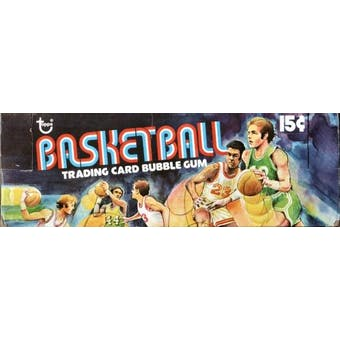 1975/76 Topps Basketball Wax Box