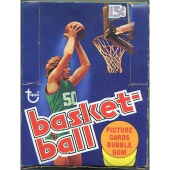 1977/78 Topps Basketball Wax Box