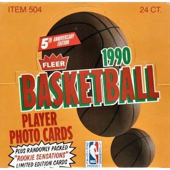 1990/91 Fleer Basketball Cello Box