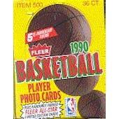 1990/91 Fleer Basketball Wax Box