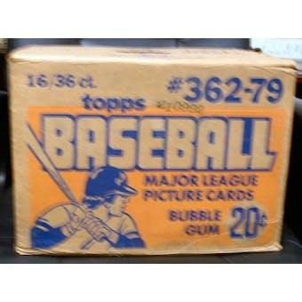 1979 Topps Baseball Wax 16-Box Case