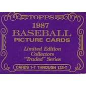 1987 Topps Tiffany Traded & Rookies Baseball Factory Set