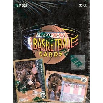 1992/93 Fleer Series 1 Basketball Hobby Box