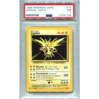 Pokemon Base Set Unlimited Zapdos 16/102 PSA 7