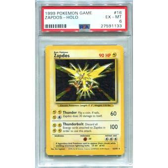Pokemon Base Set Unlimited Zapdos 16/102 PSA 6