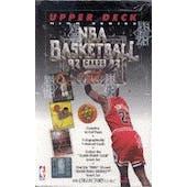 1992/93 Upper Deck Hi # Basketball Hobby Box