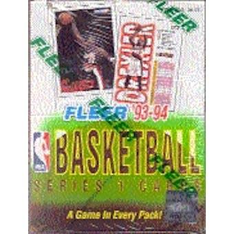 1993/94 Fleer Series 1 Basketball Hobby Box