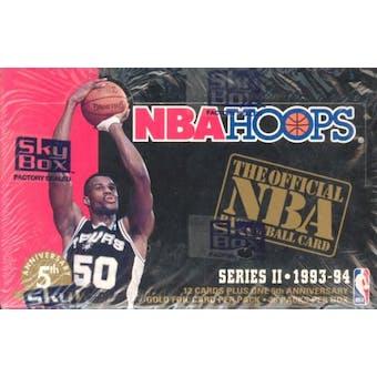 1993/94 Hoops Series 2 Basketball Hobby Box