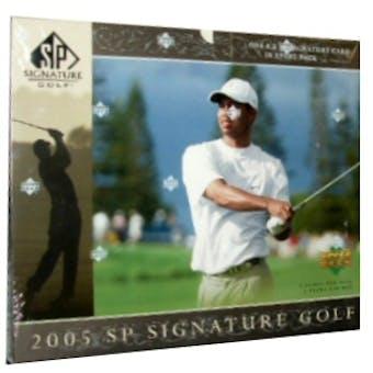2005 Upper Deck SP Signature Golf Hobby Box