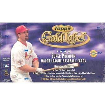 1998 Topps Gold Label Baseball Hobby Box