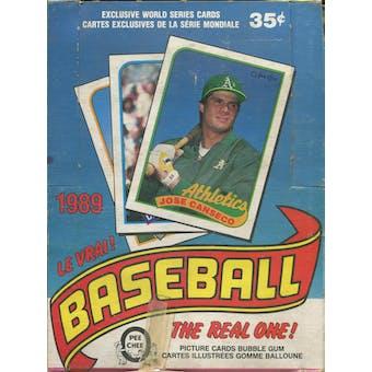 1989 O-Pee-Chee Baseball Wax Box