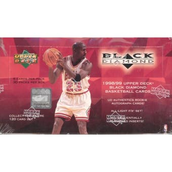1998/99 Upper Deck Black Diamond Basketball Hobby Box