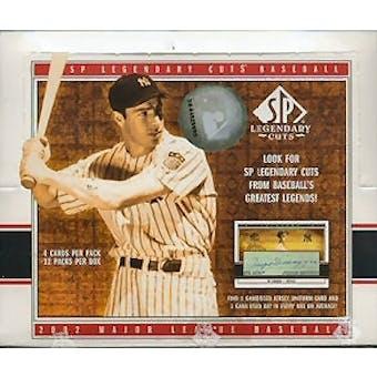 2002 Upper Deck SP Legendary Cuts Baseball Hobby Box