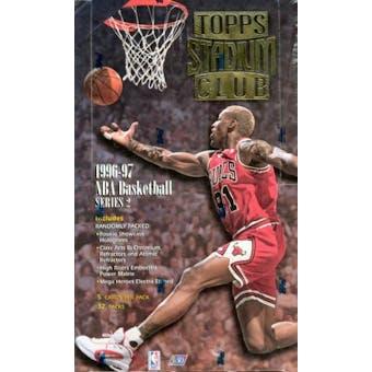 1996/97 Topps Stadium Club Series 2 Basketball Hobby Box