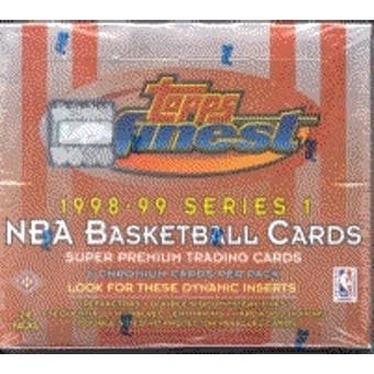1998/99 Topps Finest Series 1 Basketball Hobby Box