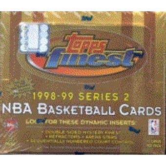 1998/99 Topps Finest Series 2 Basketball Jumbo Box