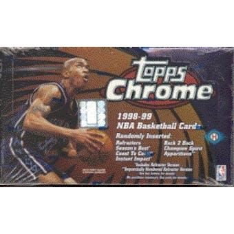 1998/99 Topps Chrome Basketball Hobby Box