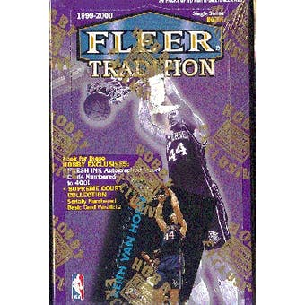 1999/00 Fleer Tradition Basketball Hobby Box