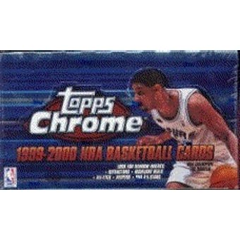 1999/00 Topps Chrome Basketball Hobby Box