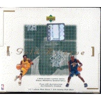 1999/00 Upper Deck Gold Reserve Basketball Box