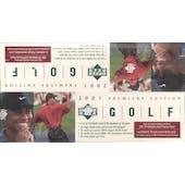 2001 Upper Deck Golf Rack Box