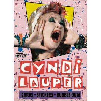 Cyndi Lauper Wax Box (1985 Topps)