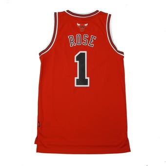 Chicago Bulls Derrick Rose Adidas Red Swingman #1 Jersey (Adult XL)