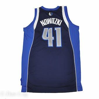Dallas Mavericks Dirk Nowitzki Adidas Navy Alternate Swingman #41 Jersey (Adult L)