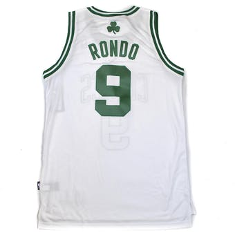 Boston Celtics Rajon Rondo Adidas White Swingman #9 Jersey (Adult XL)